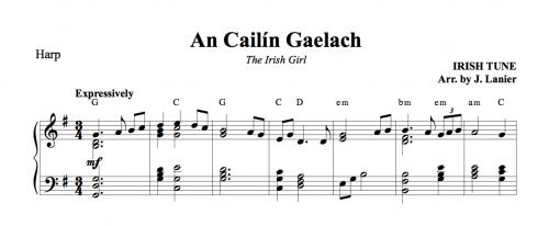 An Caílin Gaelach (The Irish Girl) for Harp | Janet Lanier