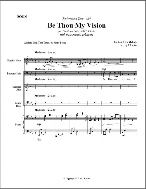 Be Thou My Vision page 1