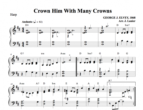 Crown Him with Many Crowns for Harp | Janet Lanier