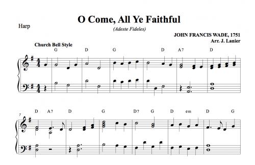 O Come, All Ye Faithful (Adeste Fideles) for Harp | Janet Lanier