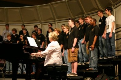 TMEA Rheearsal with Janice David, piano