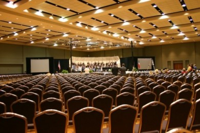 TMEA Rehearsal from the back of the ballroom