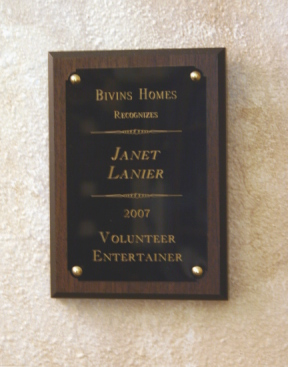 Volunteer Entertainer Award 2007